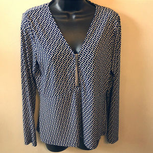 MICHAEL Michael Kors 1/2 Zip Empire Top Size Med